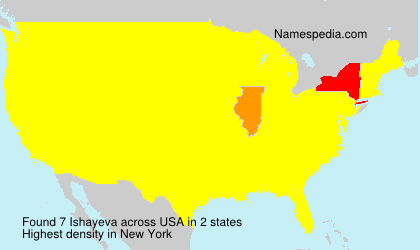 Surname Ishayeva in USA