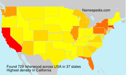 Surname Isherwood in USA