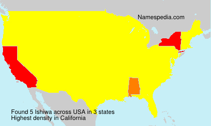 Surname Ishiwa in USA