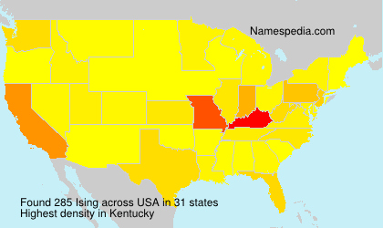 Surname Ising in USA