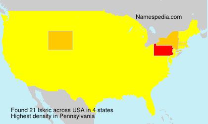 Familiennamen Iskric - USA