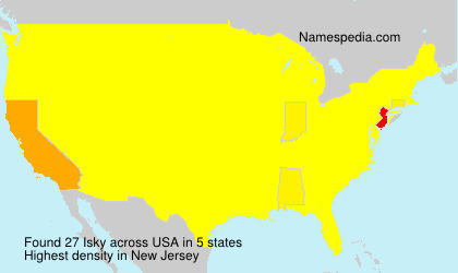Surname Isky in USA