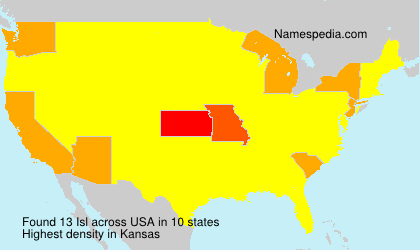 Surname Isl in USA
