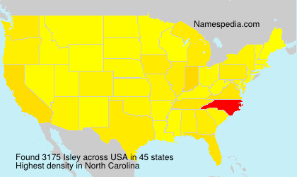 Surname Isley in USA