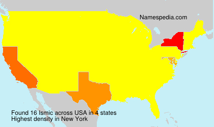Surname Ismic in USA