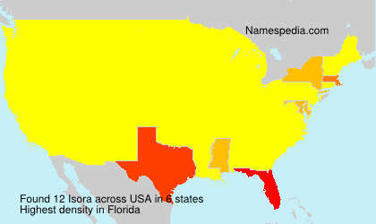 Surname Isora in USA