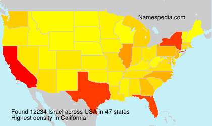Surname Israel in USA