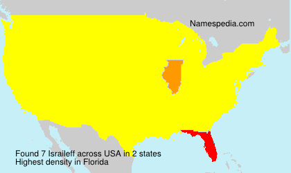 Surname Israileff in USA
