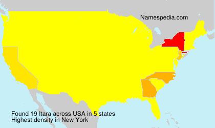 Familiennamen Itara - USA