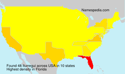 Surname Iturregui in USA