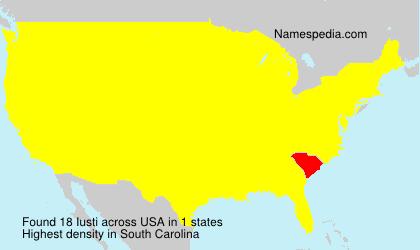 Familiennamen Iusti - USA