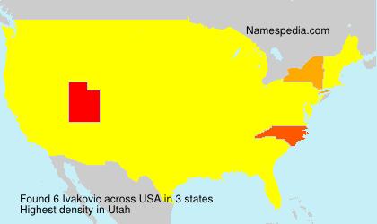 Surname Ivakovic in USA