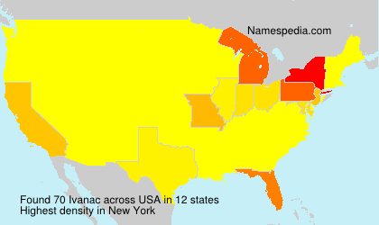 Surname Ivanac in USA
