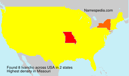 Surname Ivancho in USA