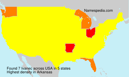 Surname Ivanec in USA
