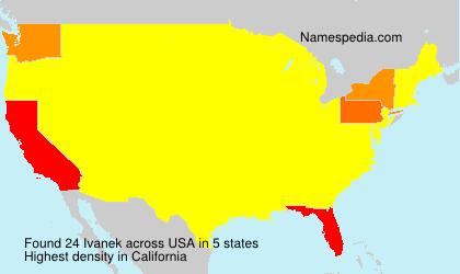 Surname Ivanek in USA