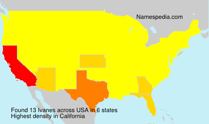Surname Ivanes in USA