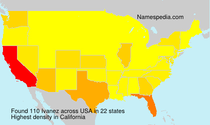 Surname Ivanez in USA