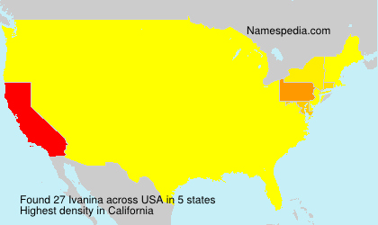 Surname Ivanina in USA