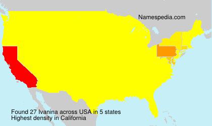 Surname Ivanina in USA