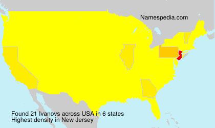 Surname Ivanovs in USA
