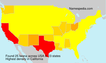 Surname Iwana in USA