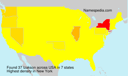 Surname Izakson in USA
