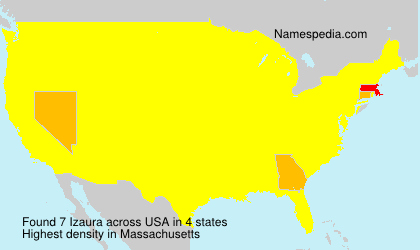 Surname Izaura in USA
