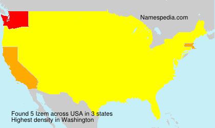 Surname Izem in USA