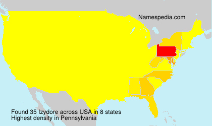 Surname Izydore in USA