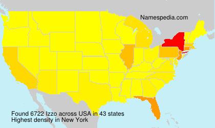 Familiennamen Izzo - USA