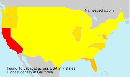 Surname Jabagat in USA