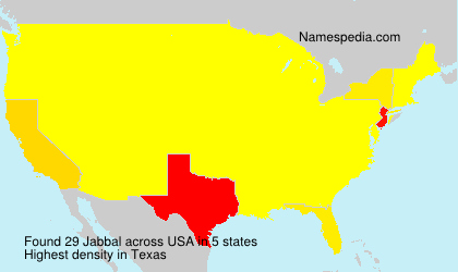 Surname Jabbal in USA