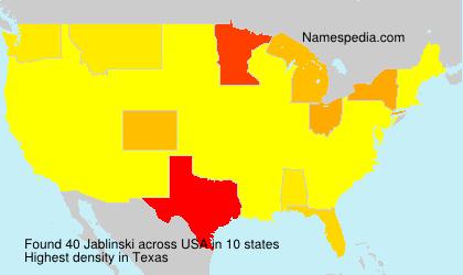 Familiennamen Jablinski - USA