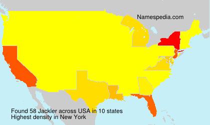 Surname Jackler in USA