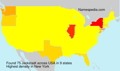 Surname Jackstadt in USA