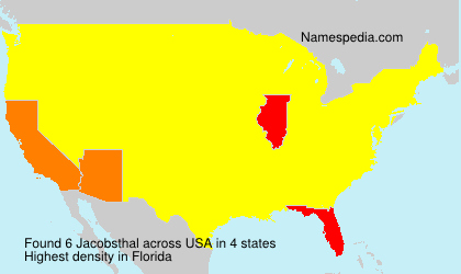 Surname Jacobsthal in USA