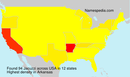 Surname Jacuzzi in USA
