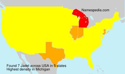 Familiennamen Jadel - USA