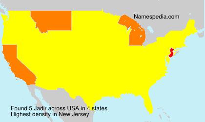 Surname Jadir in USA