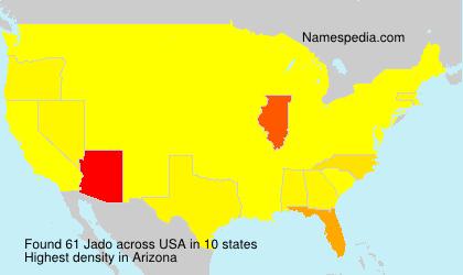 Familiennamen Jado - USA