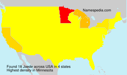 Surname Jaede in USA
