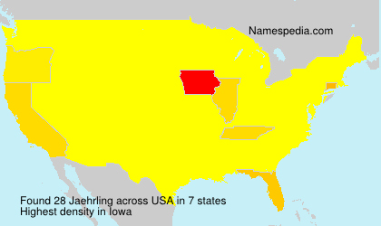 Surname Jaehrling in USA