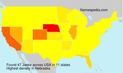 Surname Jaeke in USA
