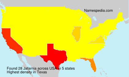 Surname Jafarnia in USA