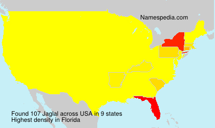 Surname Jaglal in USA
