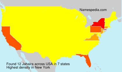 Surname Jahaira in USA
