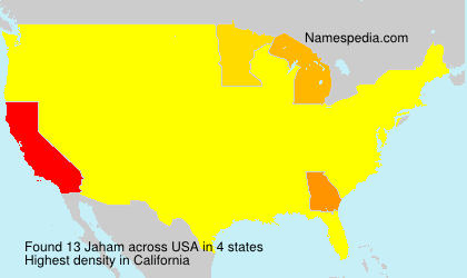 Surname Jaham in USA