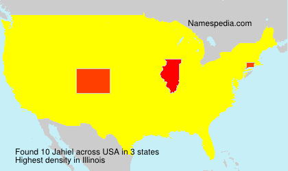 Surname Jahiel in USA