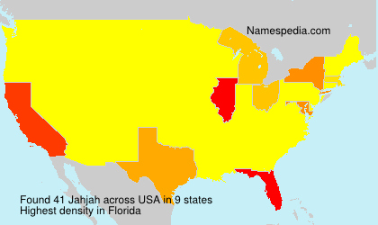 Surname Jahjah in USA